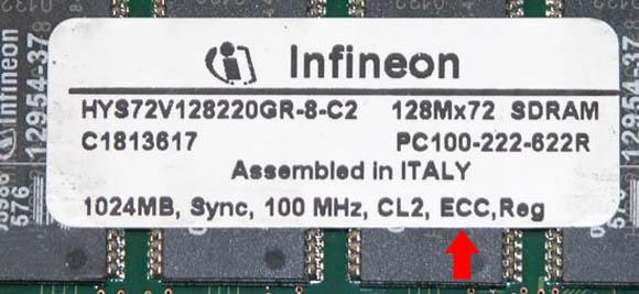 Memorie ECC 1GB eticheta label